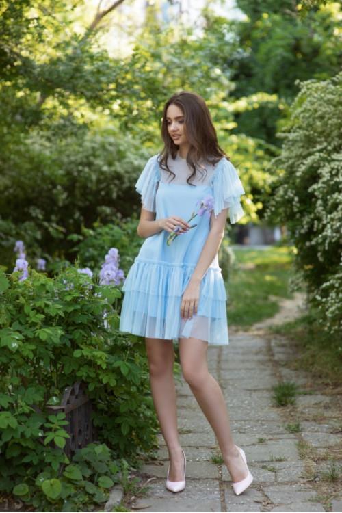 Платье 3421 голубой